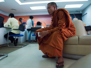 A monk at Mobitel